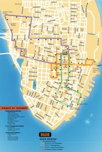 charleston trolley bus route map