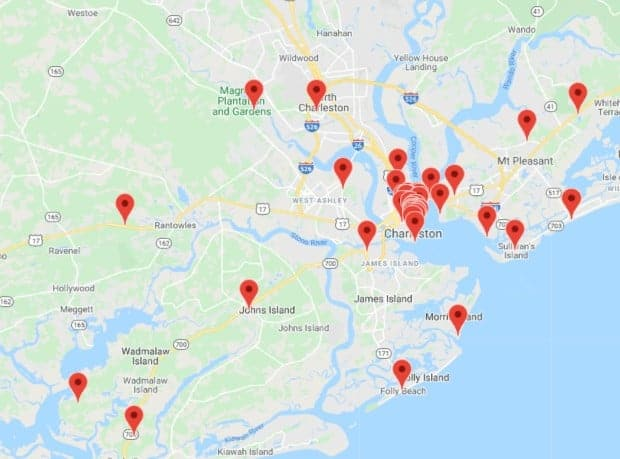 charleston sc tour pass attraction map